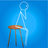 Stickman Three Legged Stool