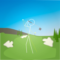 Stickman Par 4 Golf Hole